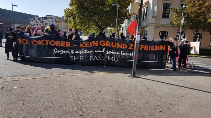 Klagenfurt: 10. Oktober 2020, Gegendemonstration